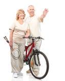 Actief bejaard paar Royalty-vrije Stock Foto