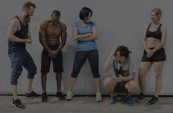 Actief de Trainingconcept van de Mensensport stock foto