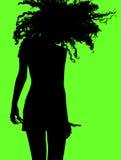Actief meisje dat haar hoofd schudt Stock Foto's