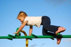 Actief speelkind Stock Foto's
