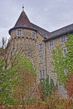 Actient-Turm-Wand in alter Stadt Solothurn Stockfoto