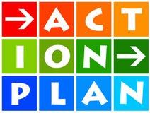 Actieplan Stock Fotografie