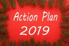 Actieplan 2019 Concept royalty-vrije stock foto