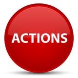 Acties speciale rode ronde knoop Stock Afbeeldingen
