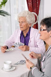 Actieve bejaarden in de vrije tijd Stock Foto