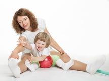 Actieve familie royalty-vrije stock fotografie