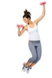 Actieve gymnastiekvrouw Royalty-vrije Stock Afbeeldingen