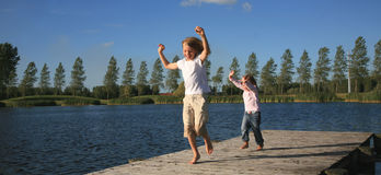 Actieve kinderen Stock Fotografie
