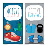 Actieve levensstijlbanners Stock Afbeelding
