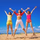 Actieve meisjes Stock Foto's