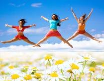 Actieve meisjes Stock Fotografie