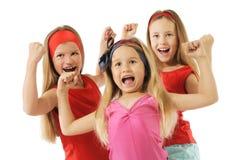 Actieve meisjes stock afbeelding