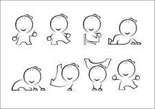Actieve mens stock illustratie