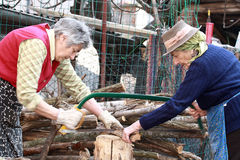 Actieve oudere vrouwen Stock Foto's