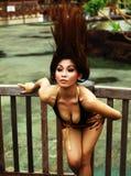 Actieve sexy vrouw in motie Stock Fotografie