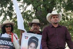 Actiist Lebaron julian durante la protesta Immagini Stock Libere da Diritti