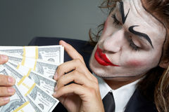 Acting businessman Stock Images
