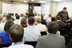 Acting in a conference hall Stock Photography