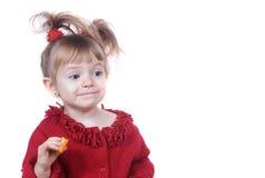 acting gullig flicka little dumbom Royaltyfria Bilder