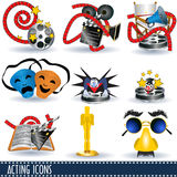 Acting icons Royalty Free Stock Images