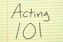 Acting 101 On A Yellow Legal Pad Royalty Free Stock Image