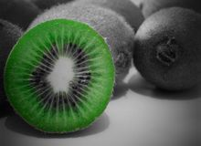 Actinidia deliciosa. Juicy fruits, beautiful green color Stock Images