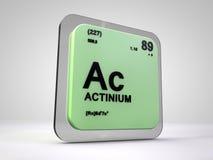 Actinium - C.A. - table périodique d'élément chimique Photographie stock libre de droits