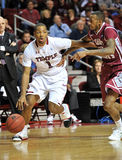 Action 2011-12 de basket-ball de NCAA Images libres de droits