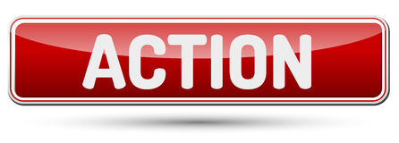 ACTION - Abstract beautiful button with text. Stock Image