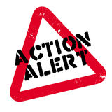 Action Alert rubber stamp Stock Images