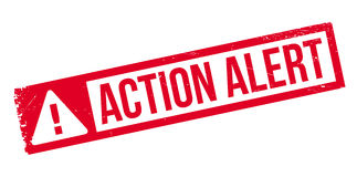 Action Alert rubber stamp Royalty Free Stock Photo