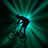 Action Bicycle Rider Stock Photos