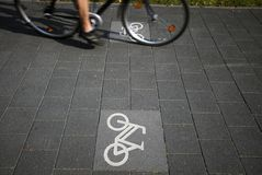 Action and bicycle symbols Royalty Free Stock Photography