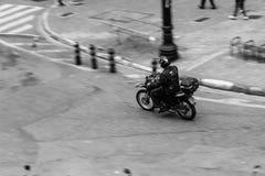 Action, Bike, Biker, Black-and-white Royalty Free Stock Photo