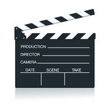 Action board. Movie Clapper Board isolated on white background Stock Photos