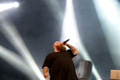 Action Bronson rapper performs in concert at Primavera Sound 2016 Royalty Free Stock Images