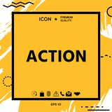 Action button symbol. Element for your design Royalty Free Stock Image