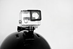 Action camera empty housing Stock Images