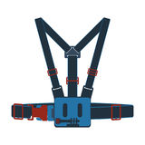 Action camera head strap mount vector icon Royalty Free Stock Photography