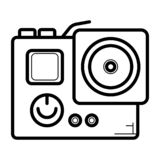 Action camera icon vector illustration