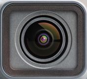 Action camera lens close-up shot royalty free stock image