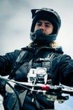 Action Camera Mounted On Mountain Bike Stock Photos