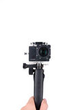 Action camera selfie stick Stock Photos
