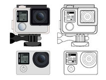 Action camera  stock illustration Royalty Free Stock Photos