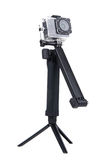 Action camera on tripod Royalty Free Stock Photos