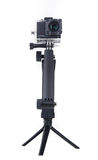 Action camera on tripod Royalty Free Stock Photo