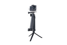 Action camera on tripod Royalty Free Stock Photography