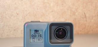 Action camera. Action video camera close-up. Action camera. Action video camera stock images
