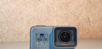 Action camera. Action video camera close-up. Action camera. Action video camera royalty free stock image