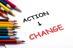 Action and change Royalty Free Stock Photo